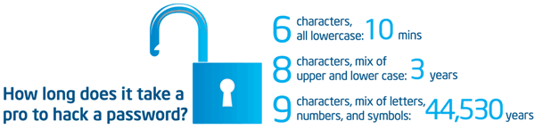 How long does it take a pro to hack a password?
