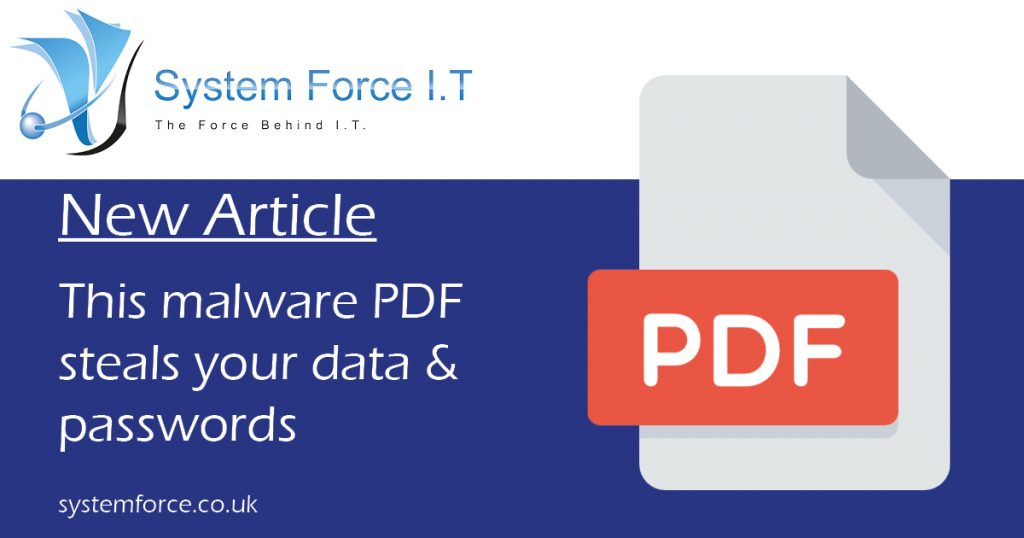 This malware PDF steals your data and passwords Solarmarker