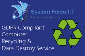 GDPR Compliant Computer Recycling and Data Destroy Service