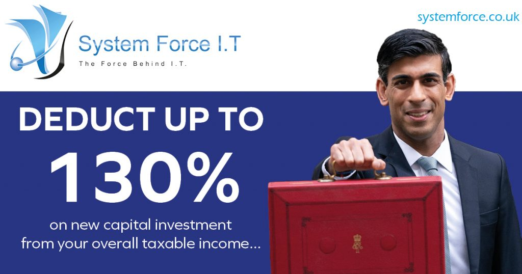 Claim 130% Capital Allowance on all NEW IT and Computer Equipment including Servers!